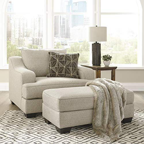 Telavi Casual Tan Fabric Armless Accent Chair With Ottoman Furniture Ashley Furniture Chairs Chair A Half