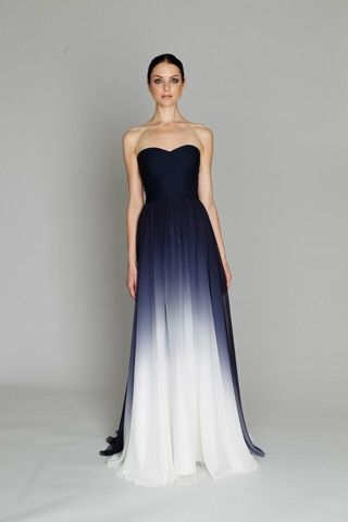 Monique Lhuillier strapless ombre gown.  Gowns Gorgeous dress ...