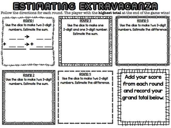 Estimating Sums And Differences Worksheets 3rd Grade - 3rd grade ...