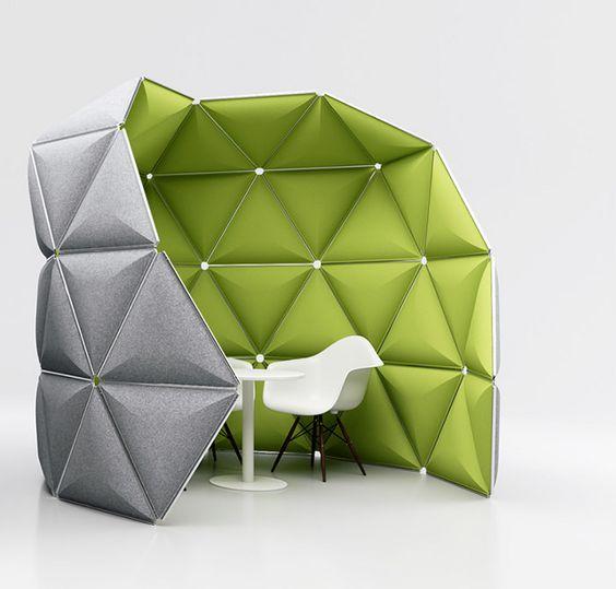 PLI KIVO structure spatiale pour open space par Alexander Lorenz