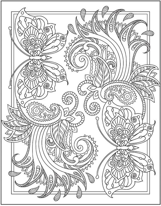 Henna Coloring Page From Dover Publications