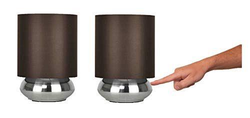 Paire Lampes De Table Chevet Touch Moderne Variateur