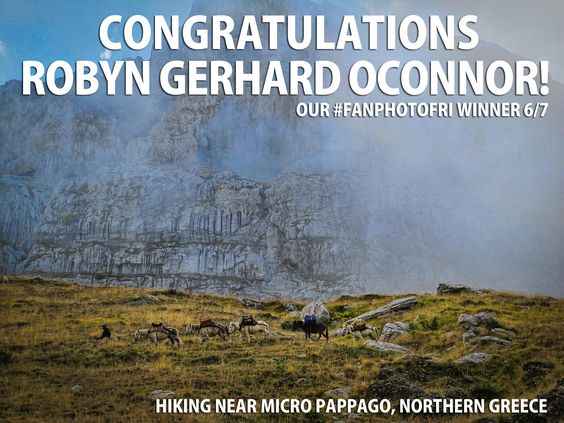Congratulations, to Robyn Gerhard OConnor, Our #FANPHOTOFRI Favorite This Week! We Loved Your Misty Shot From Northern Greece!