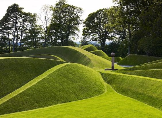 """Cells of Life"" by Charles Jencks at Jupiter Artland, Edinburgh, Scotland"