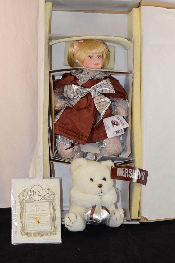 Hershey Hugs Milk Chocolate Fay Zah Spanos Porcelain Doll New in Box HSN
