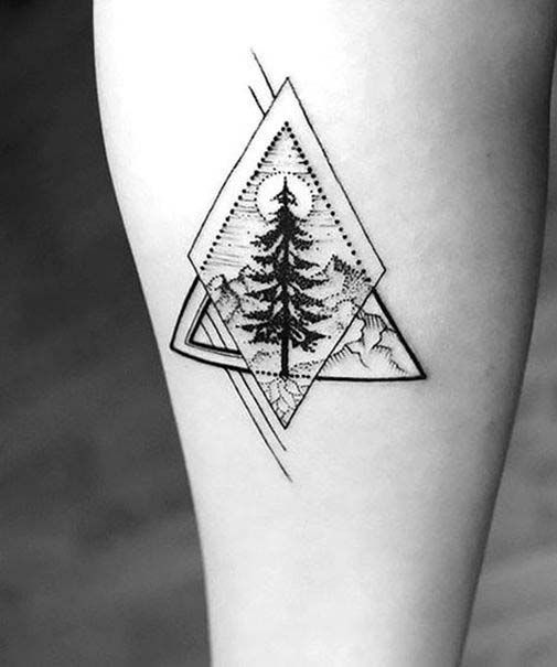 50 Perfect Simple Tattoos For Men And Women Tinytattoos Tattoos For Guys Geometric Tattoo Simple Tattoo Designs