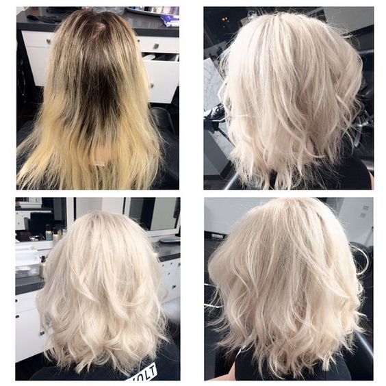 Olaplex platin hair highlight haircare ombre sombre haircut