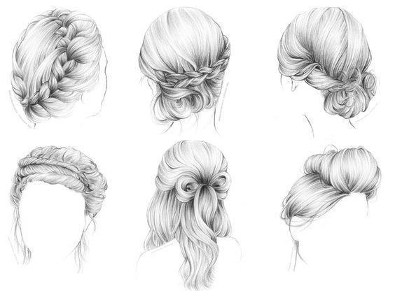 comment dessiner des cheveux en chignon