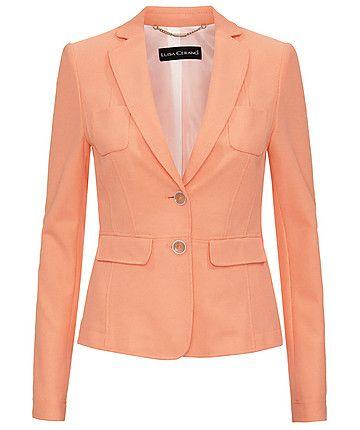 Blazer by Luisa Cerano #luisacerano #blazer #orange #pastell #engelhorn