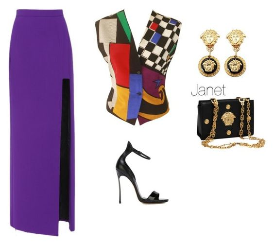 """""""It's a Versace thing"""" by janetplanet ❤ liked on Polyvore featuring Versace, Natasha Zinko and Casadei"""