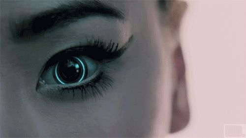WATCH IT - cyberpunk, tron-ish, awesome - Character inspiration #writing #nanowrimo #face Makes me think of what Avery's eyes look like after the bomb