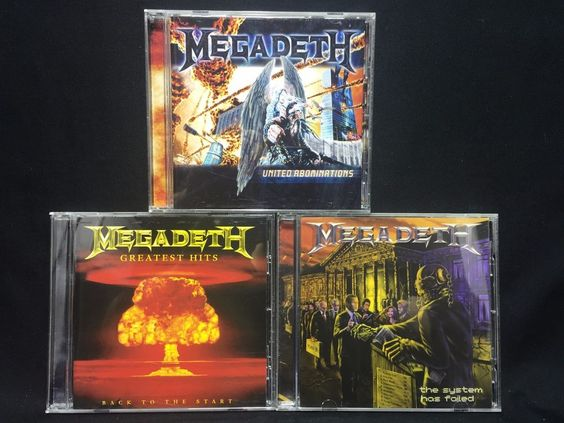 Megadeth CD/CDs Lot The System Has Failed + United Abominations + Greatest Hits