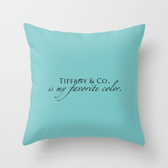 Decorative Pillows In Tiffany Blue : Colors, Tiffany blue and Throw pillows on Pinterest