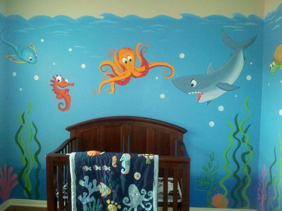 Pinterest the world s catalog of ideas for Underwater mural ideas