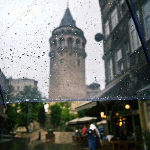 İstanbul, rain, and street
