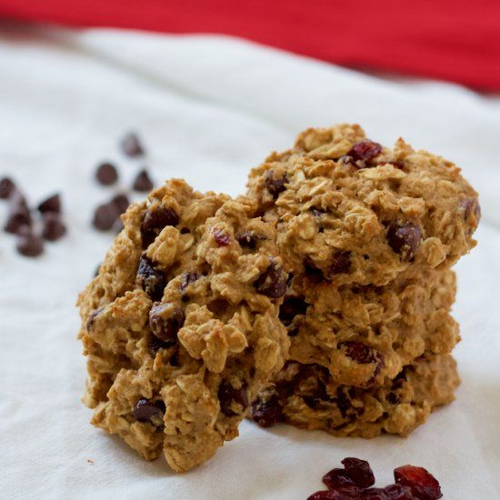 Quick and easy cranberry chocolate chip cookies are whole grain and ...