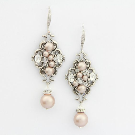 Hey, I found this really awesome Etsy listing at https://www.etsy.com/listing/54998258/champagne-pearl-earrings-chandelier