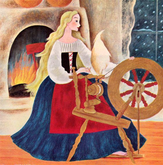 minha coleção de livro do vintage (em forma de blog) .: Branca de Neve e Rosa Vermelha - ilustrado por Gustaf Tenggren