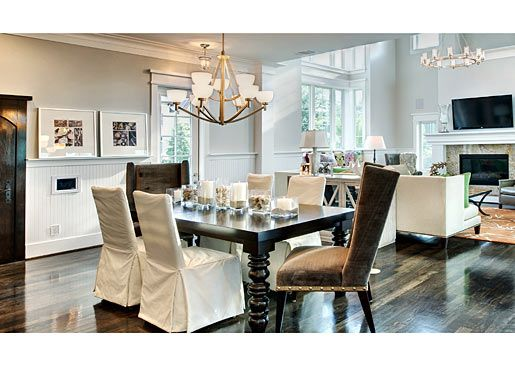 TLC's Bill & Jen's gorgeous dining room and open floor plan