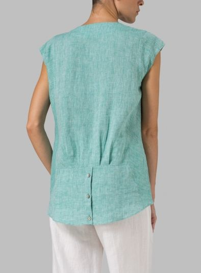 For sewing inspiration: Linen Straight Stick-Shaped Top: This site has some lovable clothing!