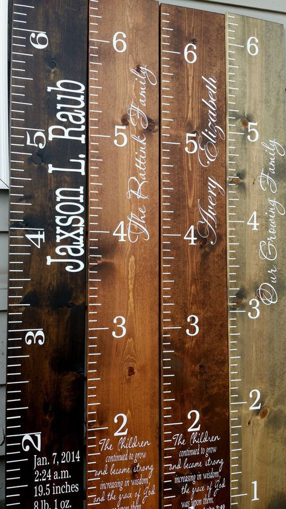 Personalized Growth Chart, Wooden Growth Chart, Height Chart, Wood Growth Chart Christmas Gift Thanksgiving decor  Children Kids Room Decor