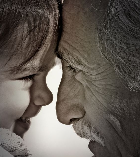 Grandfather with granddaughter: