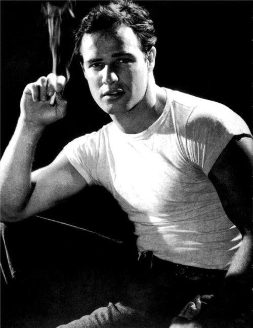 A young handsome Marlon Brando