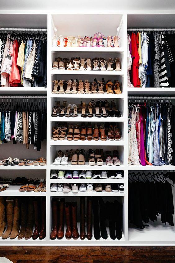 Brighton keller armário novo casa revelar sapato organização
