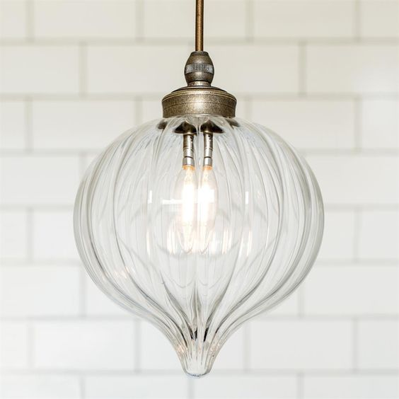 Ava Bathroom Pendant Light | Fluted Glass | Period | Contemporary | Lighting