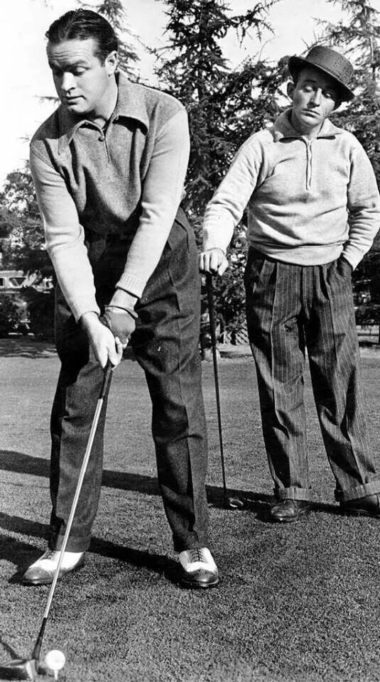 Bob Hope & Bing Crosby playing a round of golf