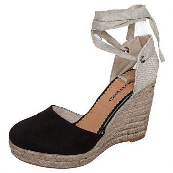 Sandália amarração Preta -   Bottero