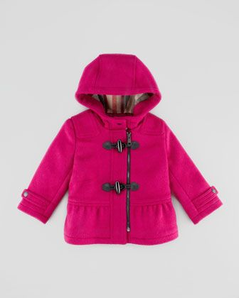 Infant Girls&39 Wool Duffle Coat Fritillary Pink 12-24 Months by
