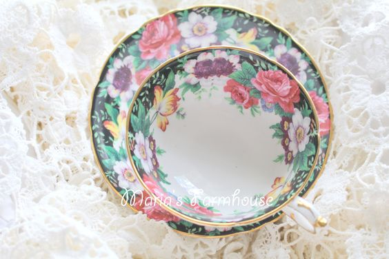 Antique, Double Warranted Paragon By Appointment English Fine Bone China, Teacup and Saucer, Westdale Pattern - c. 1939 - 1949 by MariasFarmhouse on Etsy