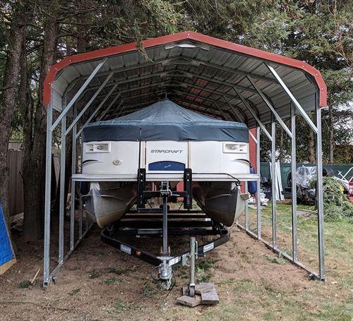18x41 Vertical Style Metal Carport Alan S Factory Outlet In 2020 With Images Metal Carports Metal Carport Kits Carport Prices