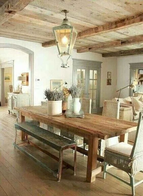 40 French Country Dining Room Decor Ideas - DoMakeover.com