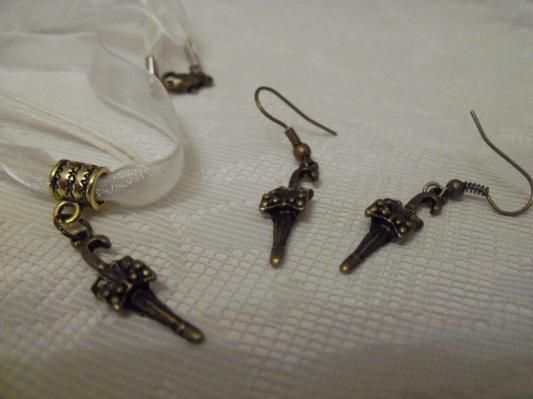 New Cute parasol umbrella necklace and earring set use your photon$ free shipping