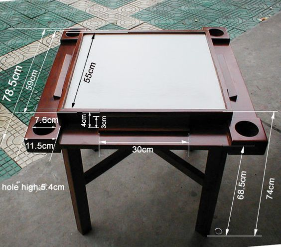 Someone S Dimensions For A Table Domino Table Ideas