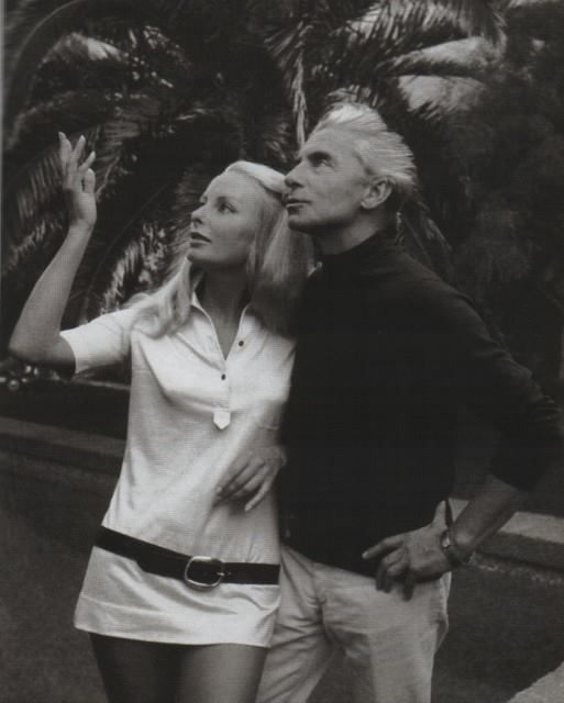 Herbert Von Karajan and his wife - Saint Tropez (France)