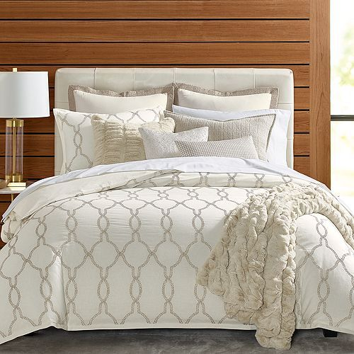 Hudson Park Collection Seed Stitch Trellis Bedding Collection 100 Exclusive Comforter Cover Hotel Bedding Sets Queen Duvet Covers