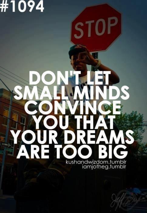 Non permettere a piccole menti di convincerti che i tuoi sogni sono troppo grandi! #fitmotivation#bodyandmind#fitness#wellness#training