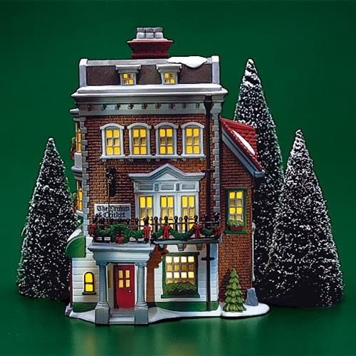Crown Cricket Inn In 2020 Christmas Village Houses Dickens Village Christmas Villages