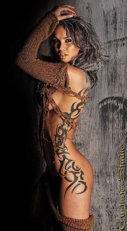 Sexy side tattoos for women