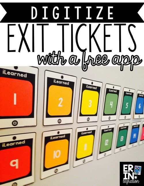 Make your own digital exit tickets! Use a printable poster, sticky notes, and a free app to save exit tickets for reference! You do not need to be 1:1. Students simply write what they learned on a sticky, paste it onto the poster, then the teacher scans the completed poster with a free app. Very cool!