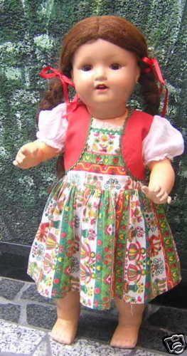 Wunderschöne AM Mädchen-Puppe um 1930 !!!