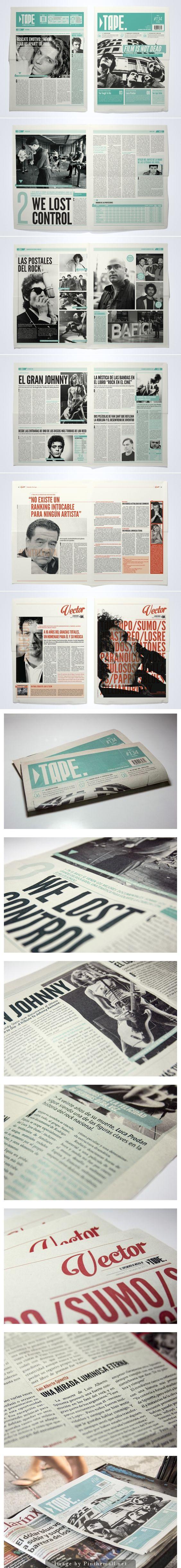 TAPE Newspaper by Juan Ignacio Roldán Nieva