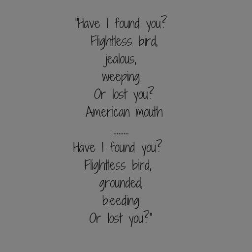 Twilight Movie Song Flightless Bird Lyrics Murdoch Mysteries