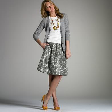 skirt and cardi
