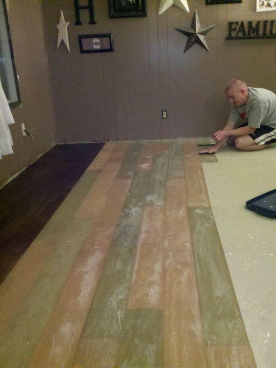 Cut paper to look like hardwood planks awesomepaper