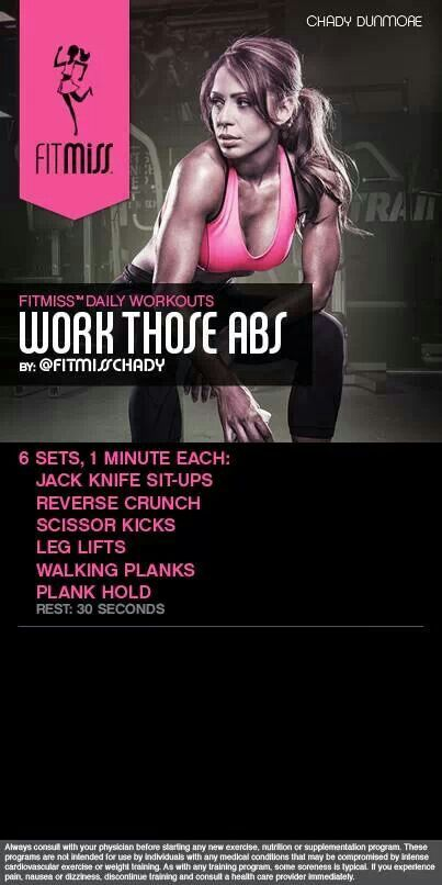 Fitmiss Work Those Abs: