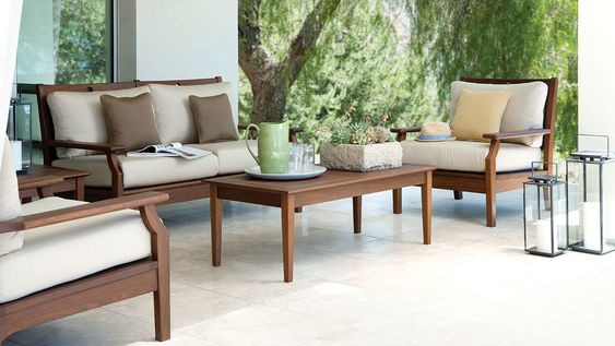 Exceptional Wood Teak Outdoor Sofa Set Patio Furniture From Jensen Leisure. Available  At Oregonu0027s Largest Showroom